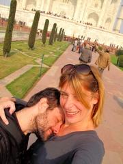 Inde - Agra : Taj Mahal, photo kitsch et loupée mais c'est voulu !