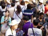 Cambodge - Angkor : la foule au Bayon