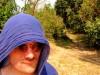 Cambodge - Angkor : à Ta Phrom, Mme Serfati a chaud !