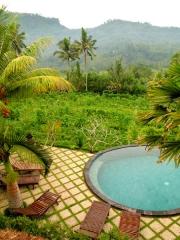 Indonésie - Bali : Sidemen, vue depuis notre chambre