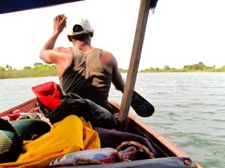 Madagascar - Manakara : canal des Pangalanes