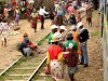 Madagascar - train Manakara : arrivée en gare