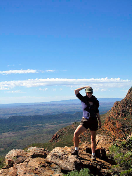 Australie - Flinders Ranges : au sommet avec ses beaux strappings !