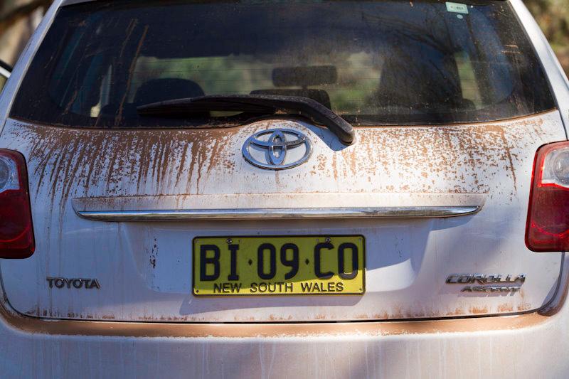Australie - Flinders Ranges : la piste c'est poussièreux