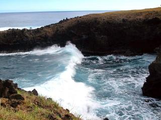 Chili - Ile de Pâques : les grosses vagues