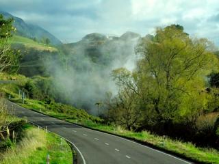 Nouvelle Zélande - fumerolles de la zone Taupo-Rotorua
