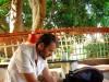 Inde - Hampi : Benjamin en mode préparatif