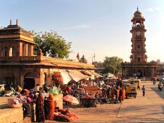 Inde - Jodhpur : la place de l'horloge