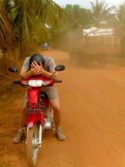 Cambodge - Kampot : sur les routes de campagne (avec poussière)