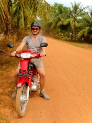 Cambodge - Kampot : sur les routes de campagne (sans poussière)