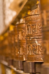 Népal - Katmandou : rouleaux de prières