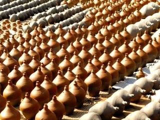 Népal - Bhaktapur : place des potiers