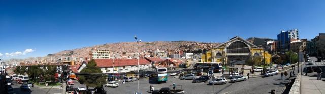 Bolivie - La Paz : gare routière