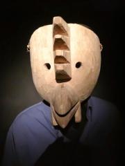 Bolivie - La Paz : musée - masque de carnaval