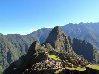 Pérou - Machu Picchu : le pic en arrière plan, c'est le Huayna Picchu