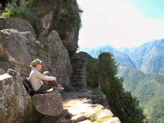Pérou - Machu Picchu : en haut du Huayna Picchu