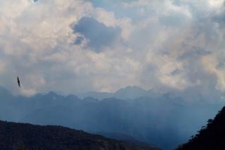 Pérou - Machu Picchu : arrivée des nuages du soir