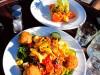 Nouvelle Zélande - Péninsule de Banks : Akaroa, lunch time