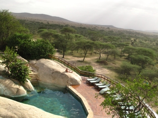 Serengeti : la piscine du lodge