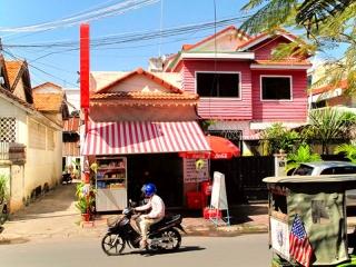 Cambodge - Phnom Penh : archi rigolote