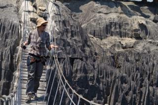 Madagascar - Tsingy de Bemaraha : passerelle
