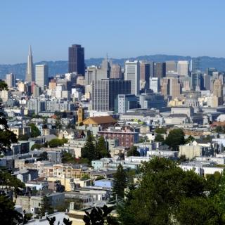 USA - San Francisco : vue du Buena vista Park