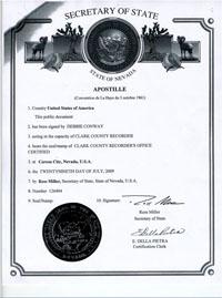 il sagit dune certification faire aposer par le secrtariat detat sur le certified copy of marriage certificate si vous tes toujours vegas - Renouvellement Voeux Mariage Las Vegas