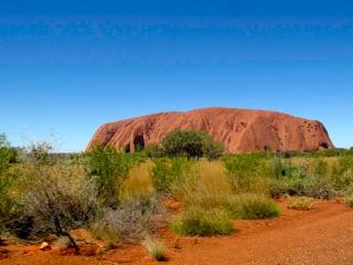 Australie - Ayers Rock : arrivée sur le site