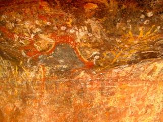 Australie - Ayers Rock : peinture aborigène