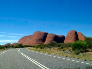 Australie - Monts Olga : arrivée sur le site