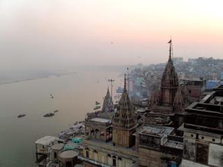 Inde - Varanasi : une des vues depuis notre terrasse