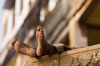 Inde - Varanasi : scène de ghât