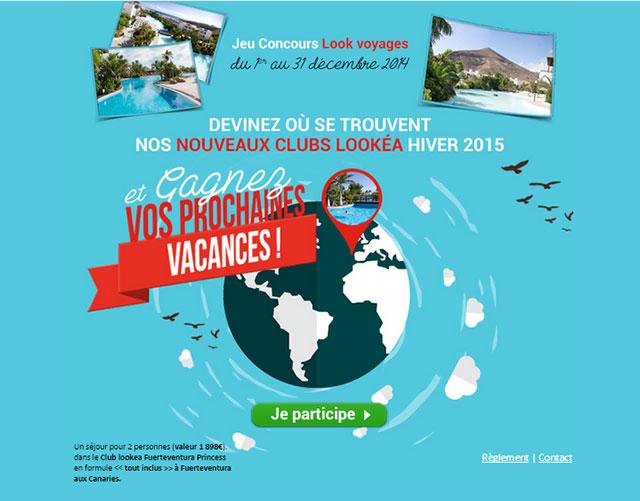Visuel du Jeu Look Voyages